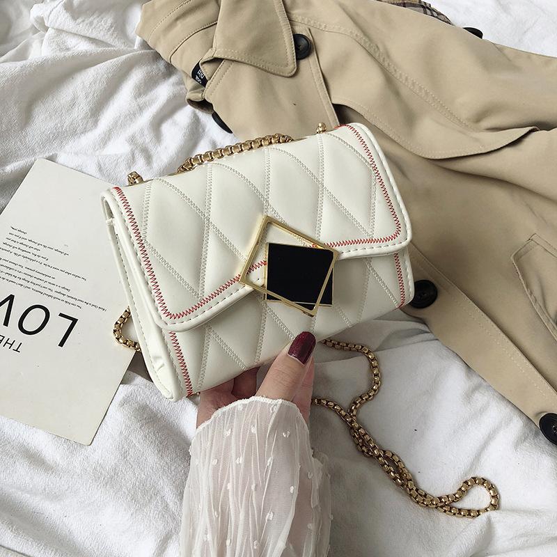 Kadınlar Moda Omuz Çantaları, PU Deri Crossbody Çanta, Çantalar, Zincirler, Koyun postu Çanta 2019