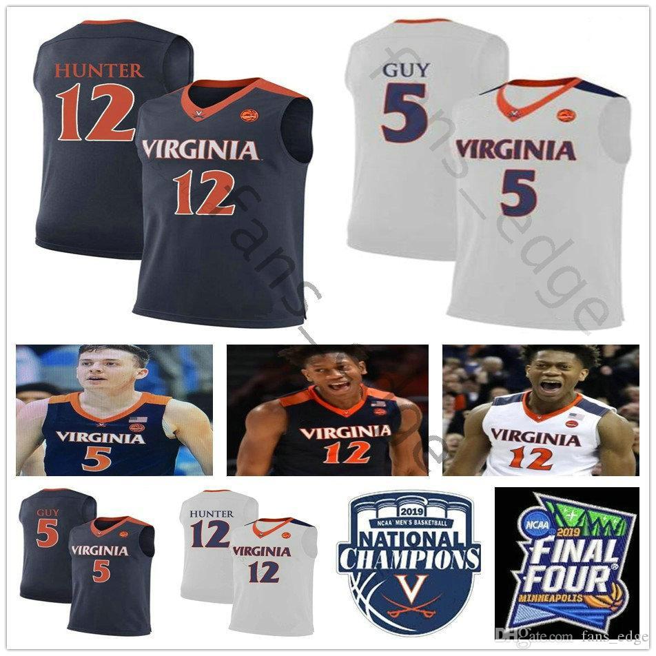 Anthony Gill Virginia Cavaliers Basketball Jersey - Navy