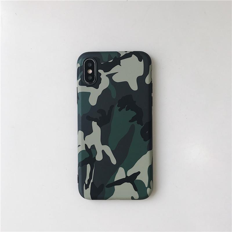 Охладить армии Camo Камуфляж телефона Чехлы для IPhone 11 Pro 100шт Max X XS XS XR Max 6 6S 7 8 Plus X Army Green Cover Case
