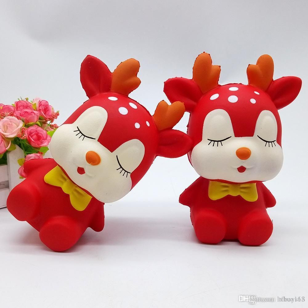brinquedo ornamento cervos quente agradável de Natal mole Witch 17 centímetros * 12 centímetros lenta subida suave Squeeze bonito brinquedo estresse presente crianças brinquedos Descompressão t599