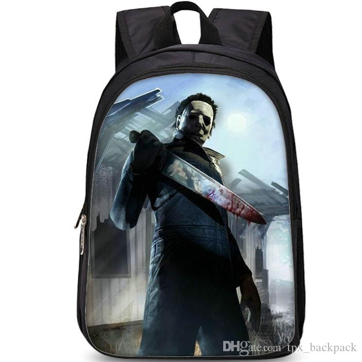 The Shape backpack Dead by day day pack مايكل مايرز القاتل حقيبة مدرسية لعبة packsack صور حقيبة الظهر الرياضة المدرسية daypack