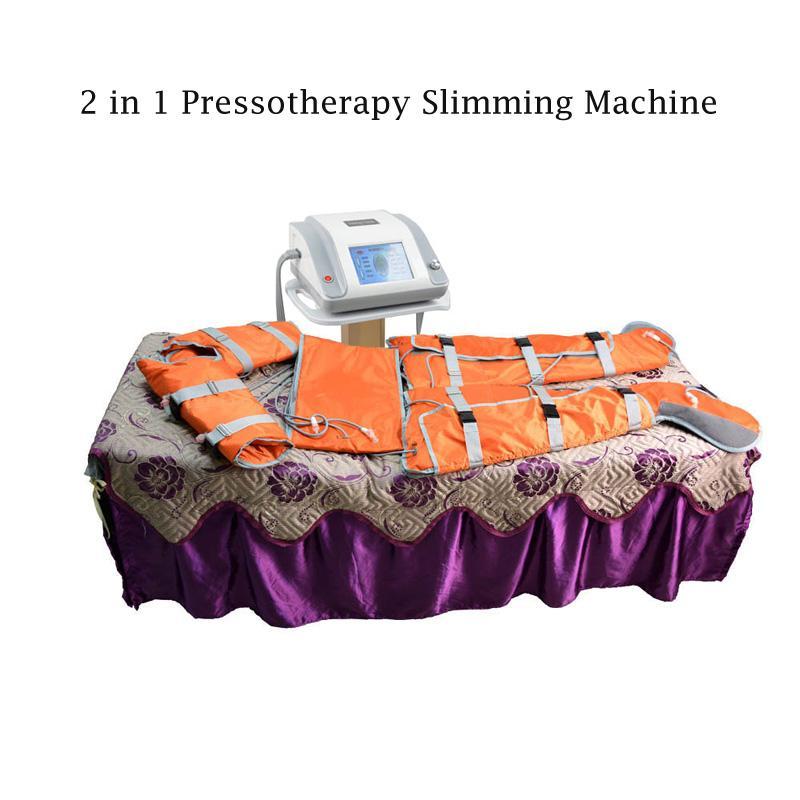Neu kommen 2 in 1 Fern-Infrarot-Licht Luftdruck pressotherapy für Lymphdrainage Wellnessmassagegeräte Abnehmen Körper