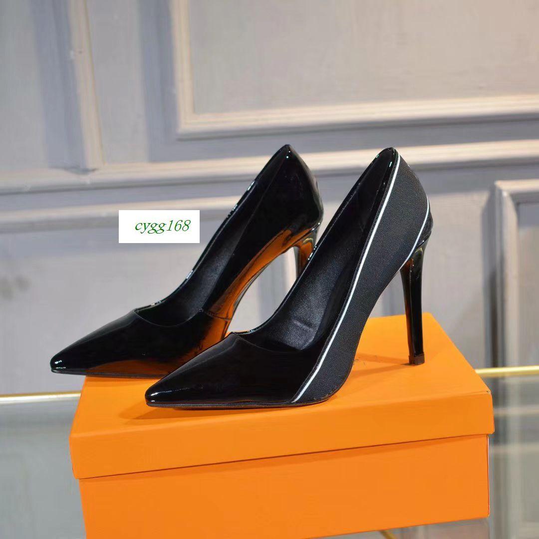 BEST QUALITY Office Caree designer women Dress shoes high heels 10cm black womens High heelssize 35