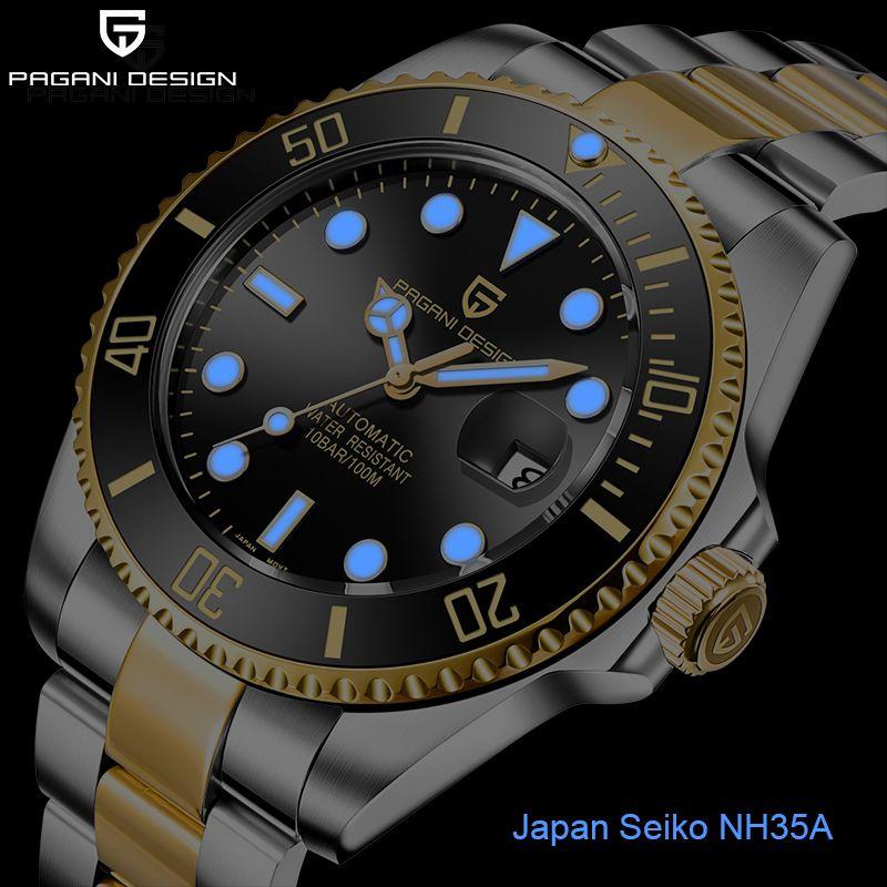 PAGANI hommes Design Montre affaires automatique montre étanche en acier inoxydable mécanique NH35A Reloj hombres