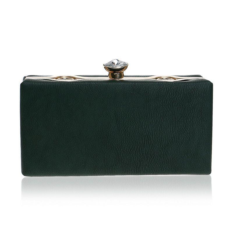 Frische grüne Frauen Abend Clutches PU Kupplungen Hochzeit Handtasche Braut Handtasche Schulter Kette Tasche Minaudiere Box Prom Kupplungen