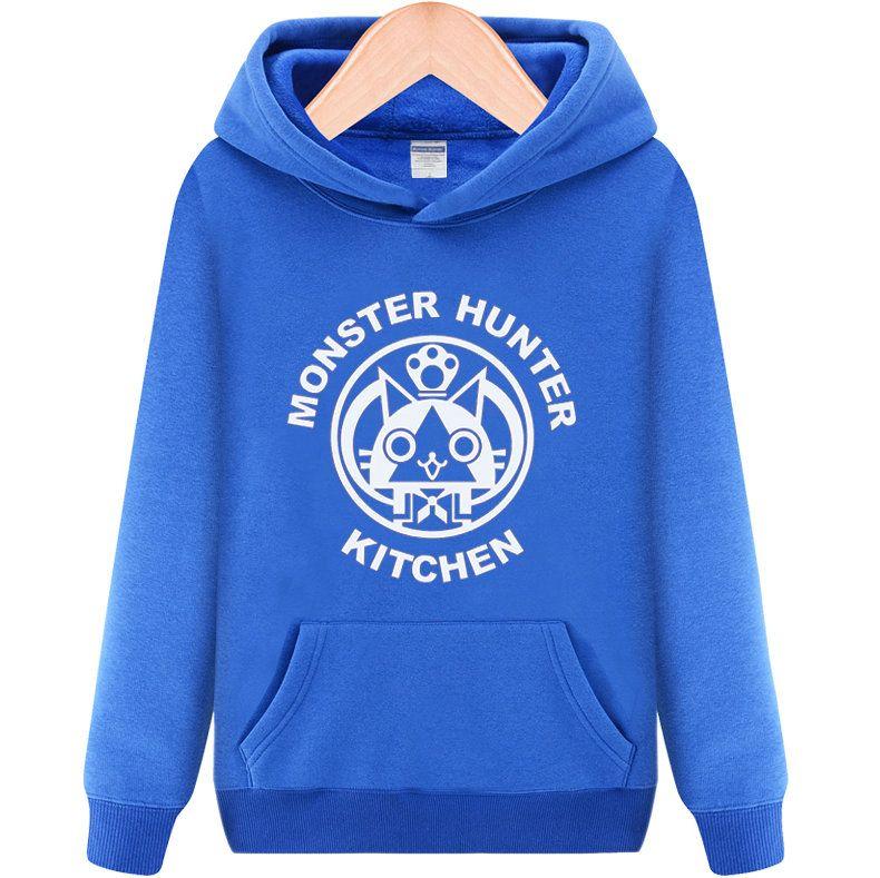Sudaderas de cocina Monster hunter jugador sudaderas cat polar ropa Pulóveres chaqueta deportiva Chaquetas al aire libre