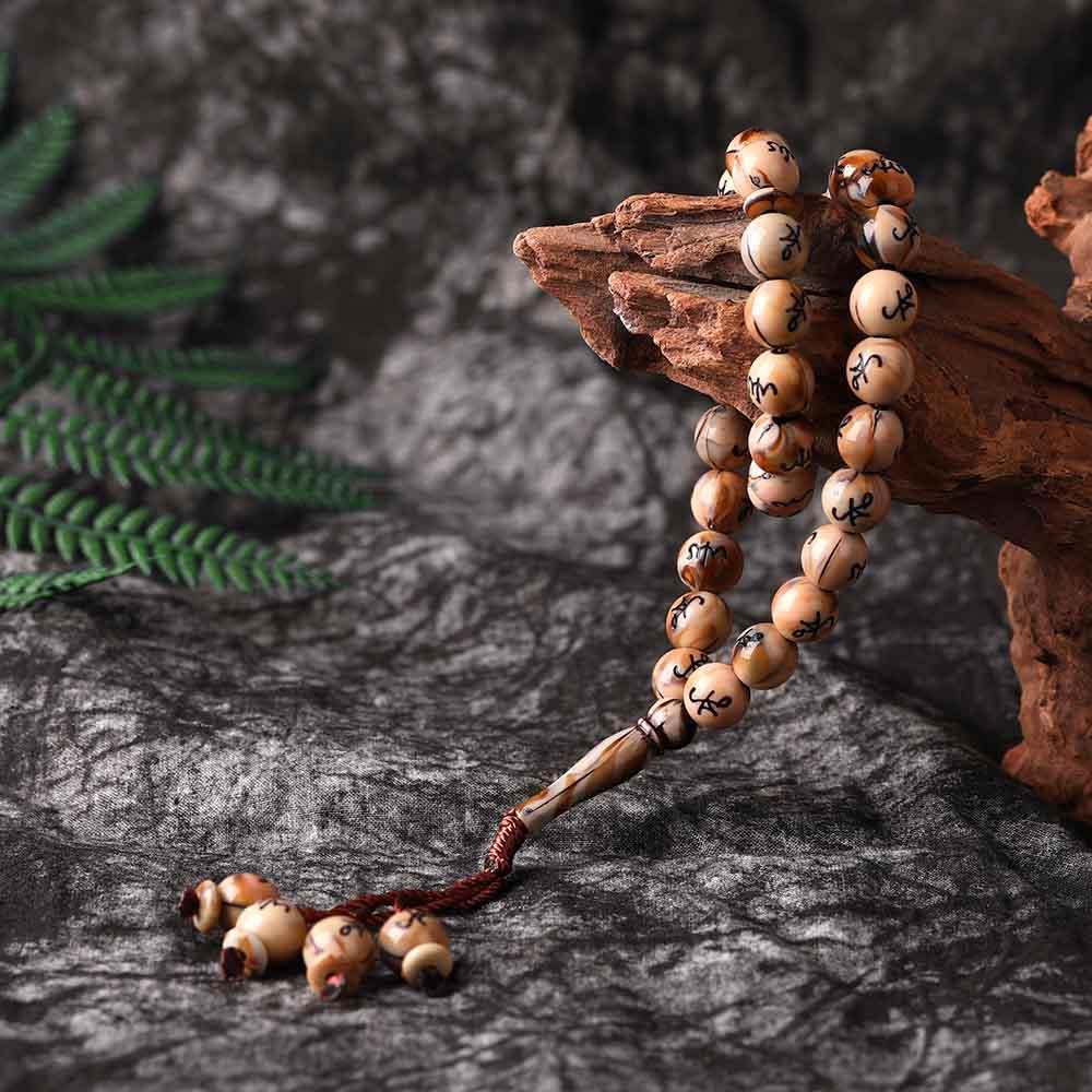 7Colors10mm33 Prayer Middle East Muslim Tassel Pendant Rosary Bracelet Unisex