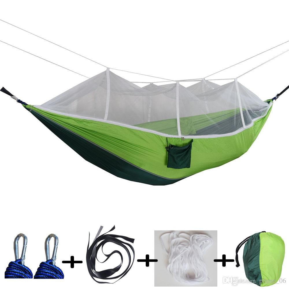 Moskitonetz Hängematte 15 Farben 260 * 140 cm Outdoor Fallschirm Tuch Feld Camping Zelt Garten Camping Schaukel Hängende Bett