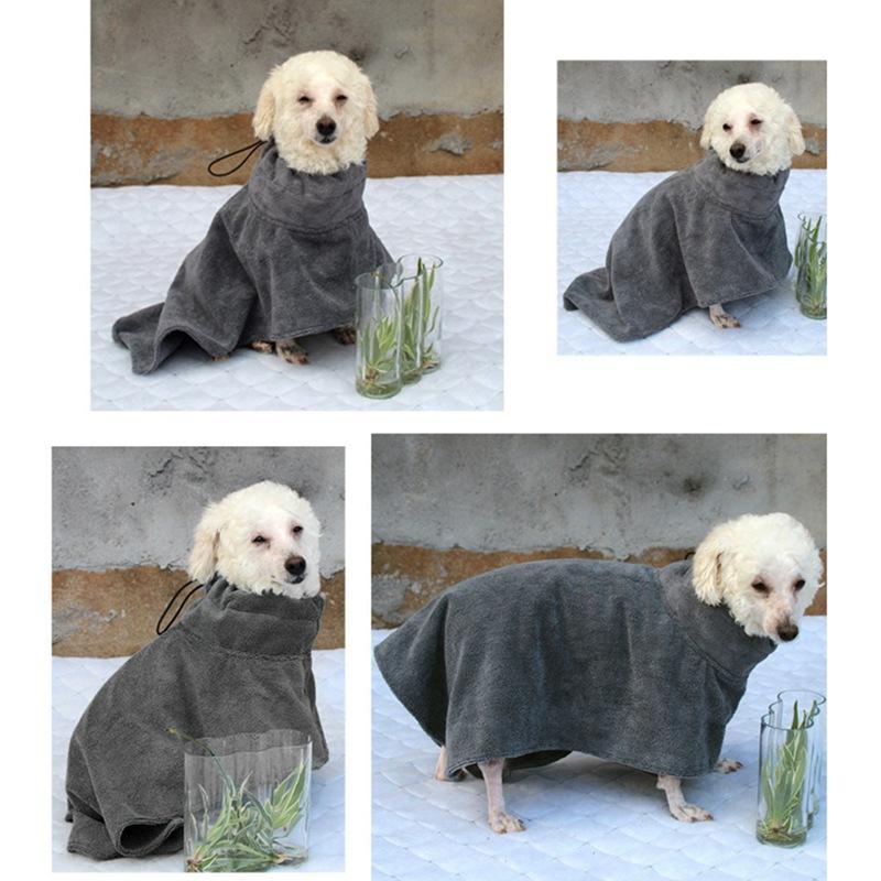 Dog Bathrobe Pet Dog Bath Towel for Small Medium Large Dogs 400g Microfiber Super Absorbent Pet Drying Towel XS-XL