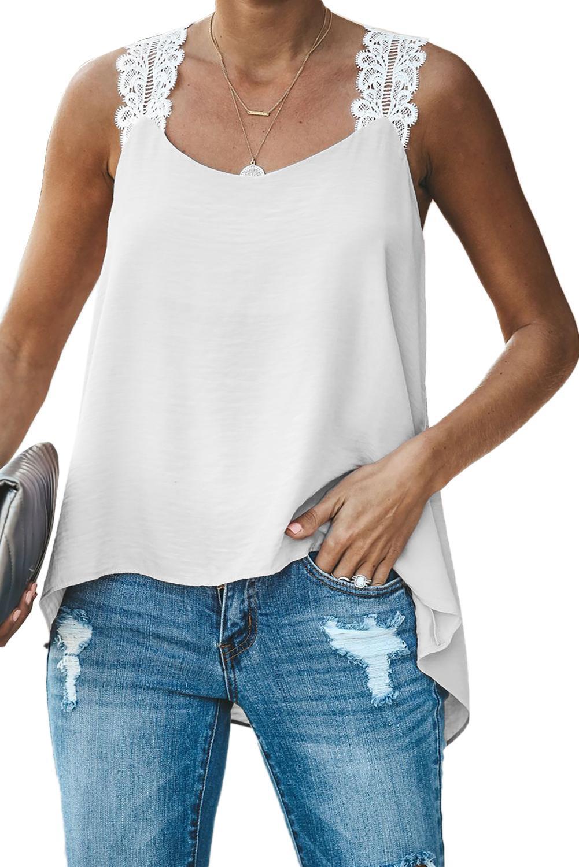 Dear Lover 2020 Articoli Abbigliamento Donna Freeshipping in azione Commercio all'ingrosso bianco come un angelo Lace Cami del carro armato
