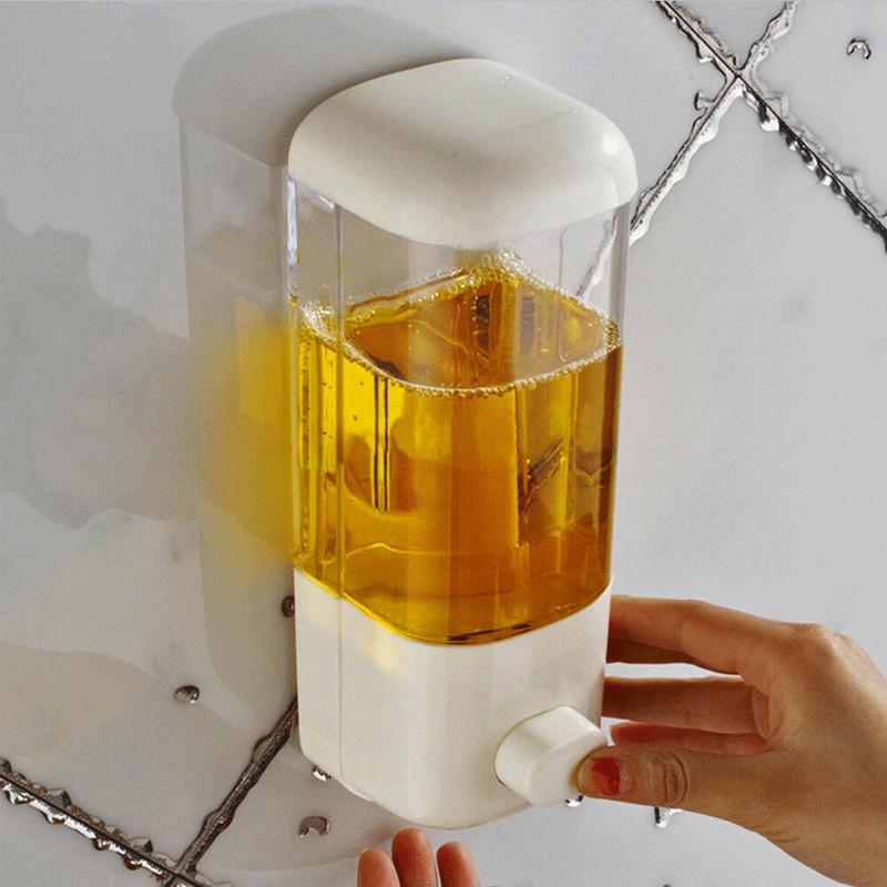 Sabonete Líquido Bathroom Wall Mount shampoo loção Container Titular sistema não perfurado Hotel Toliet
