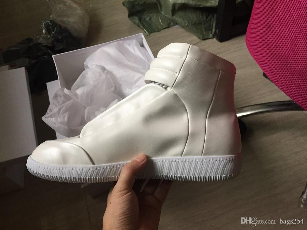 Botas de tobillo de estilo para hombre Cuero de Cuero Real Botas cortas Botas Casuales Pisos Zapatos Redondos Toe Calzado
