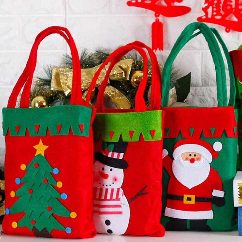 1pc Weihnachtsdekoration Zubehör für Home Weihnachtsmann Schneemann-Art-Weihnachts Candy Bag Ornament