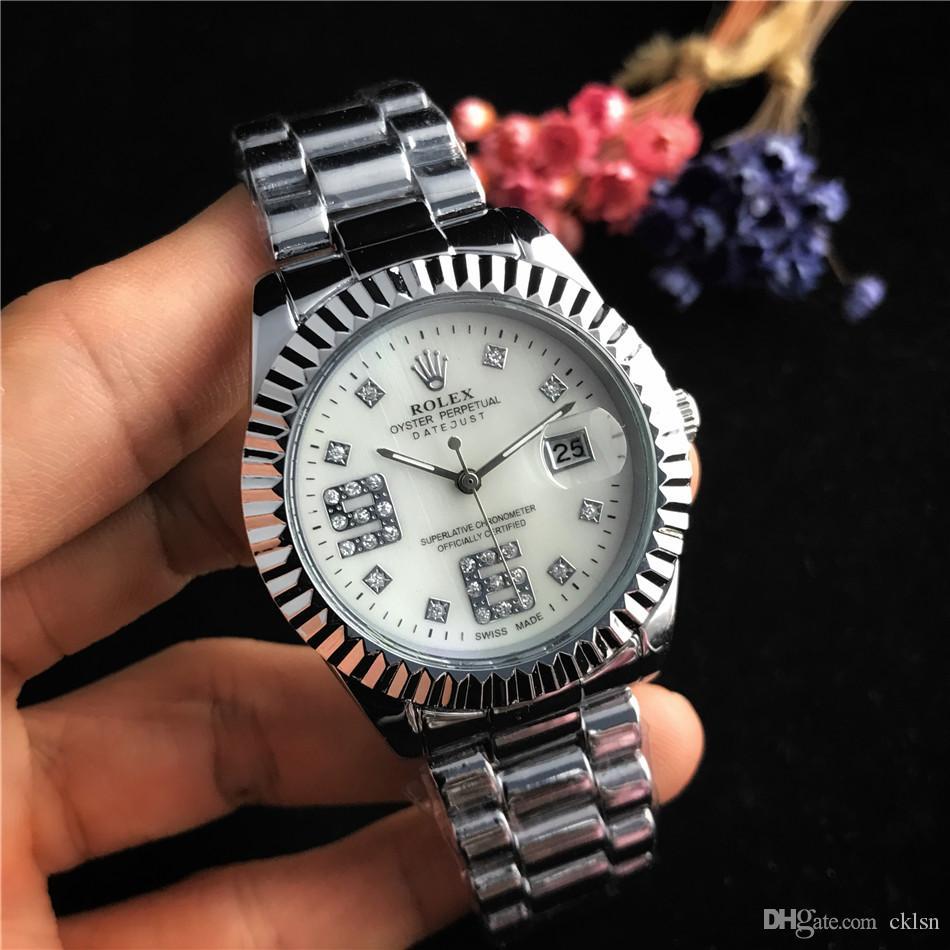 Relogio senhoras masculino relógio de luxo cinto elegante mostrador preto com calendário Bracklet fivela dobrável mestre 38mm senhoras giftluxury assistir