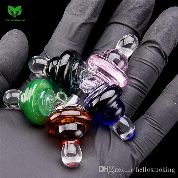 Solid Glass Bubble Carb Cap 25mm for Domeless Flat Top Quartz Banger Nail Glass Bong Smoking Oil Wax Rig 909