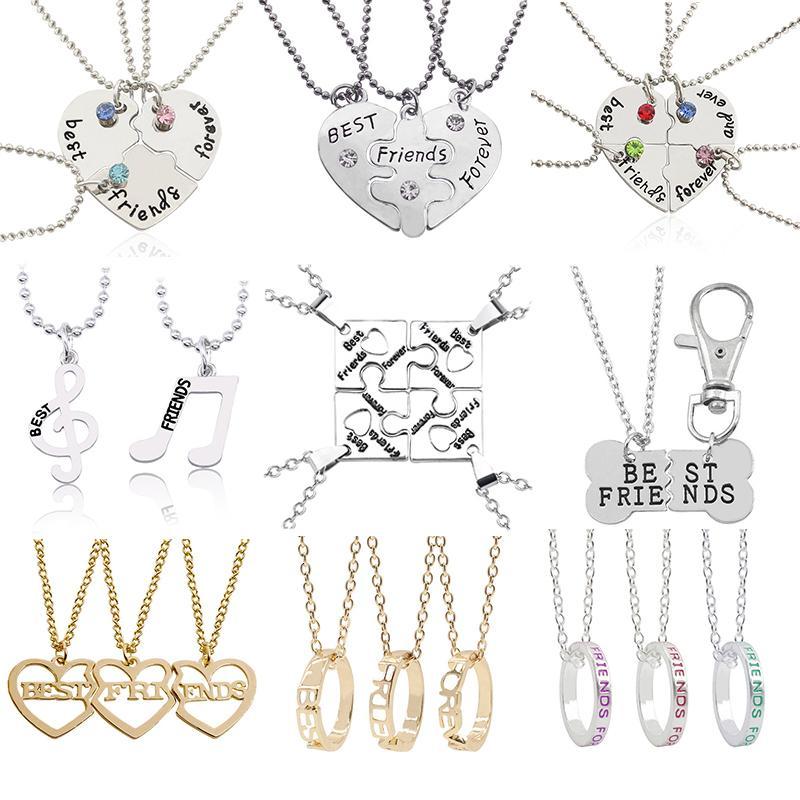 Musicalnote pendente Bff amicizia per sempre il regalo dei monili nuova collana migliori amici per le donne ragazze Broken Heart Puzzle