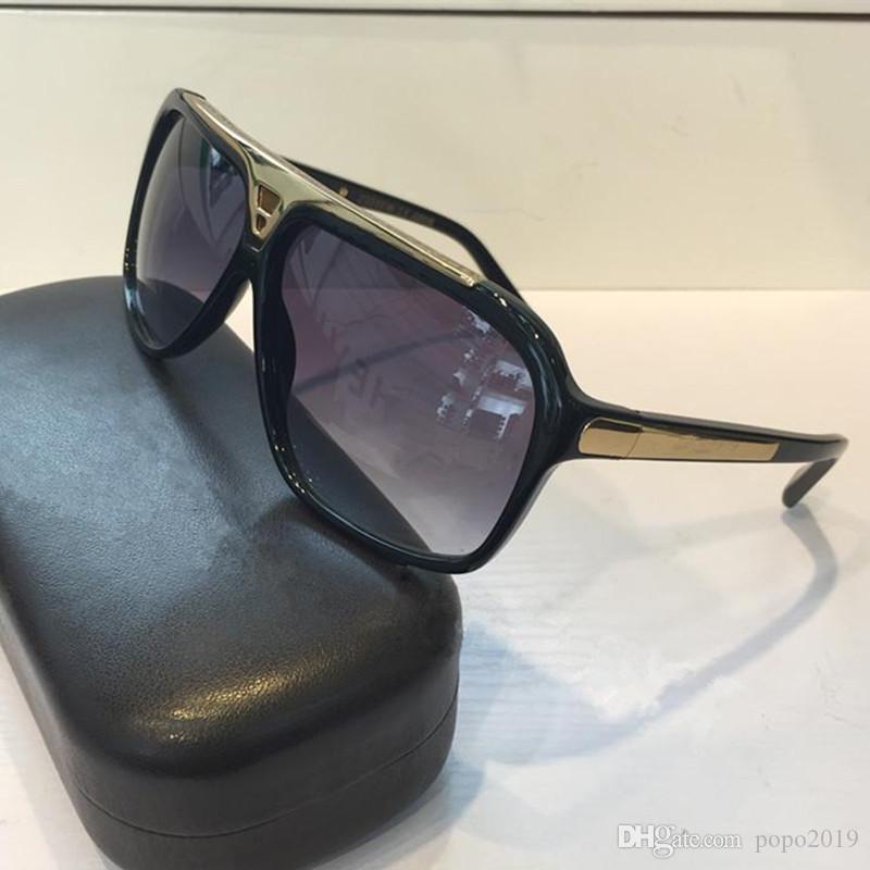 مصمم أزياء الرجال النظارات الشمسية العلامة التجارية مليونير بينة نظارات الرجعية خمر لامعة الذهب الصيف أسلوب ليزر شعار Z0350W أعلى جودة