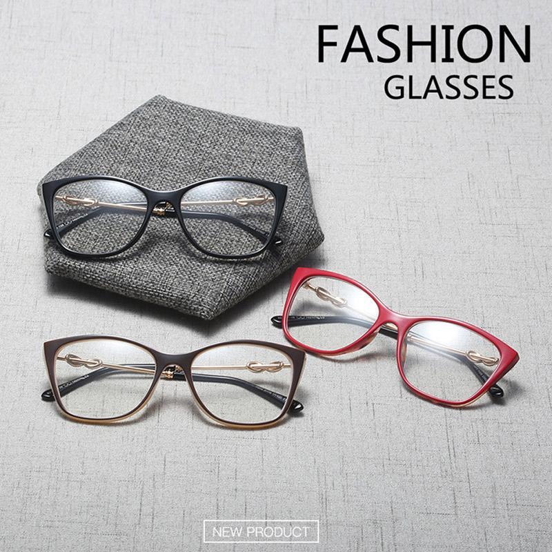 Atacado- Optical Óculos completa Rim Mulheres Prescrição óculos de armação Mulher coloridos Espetáculos Designer Marca