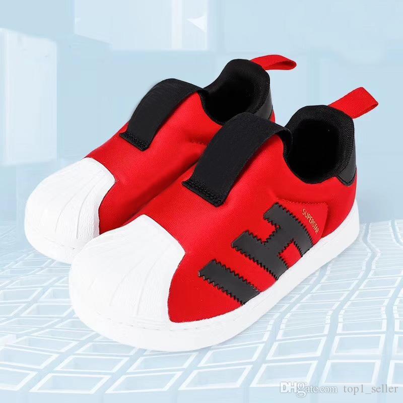 2020 Süperstar 360 I Çocuklar koşu ayakkabıları erkek kız genç çocuk spor Sneaker boyutu 22-35