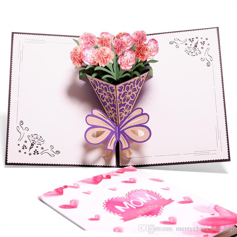 Enjoyable 3D Pop Up Cards Mothers Day Gifts Card I Love Mom Carnation Personalised Birthday Cards Veneteletsinfo