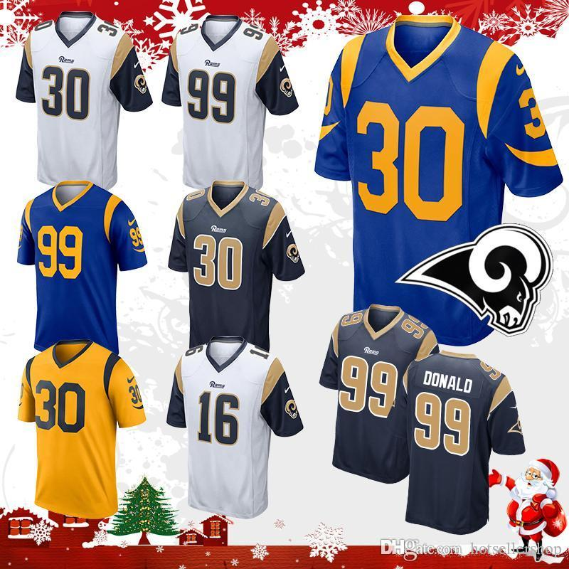 nice shoes 0d0d4 9a0f4 2019 Mens Todd Gurley Jersey 30 Los Angeles Rams Football Jerseys 16 Jared  Goff 99 Aaron Donald Stitched Embroidery Logos Top Sale Stitched Embro From  ...