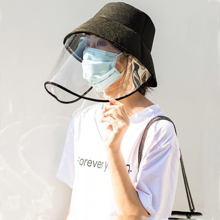 Proteção Hat Anti-cuspir Fisherman Cap Segurança Outdoor Defesa completa Máscara Sun-sombra Segurança chapéus de festa T2C5200