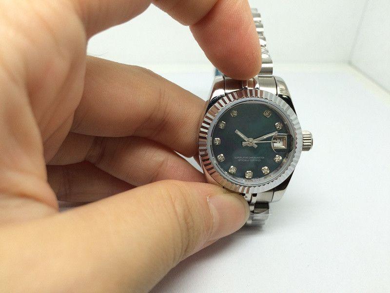 무료 배송 핫 세일 여성 시계 톱 판매 여성 시계 기계식 시계 자동 운동 스테인레스 스틸 손목 시계 여성 r52 시계