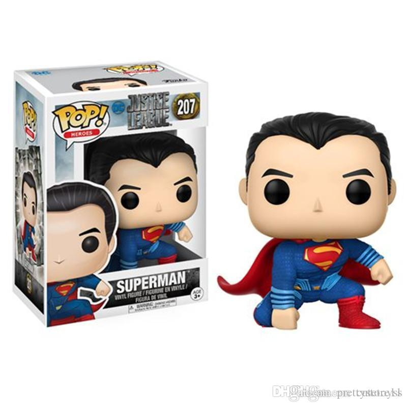 Pretty DHL Fast ship New arrival xmas gift Funko PopIron Spiderman & superman Vinyl Action Figure With Box Gift Toy Good Quality