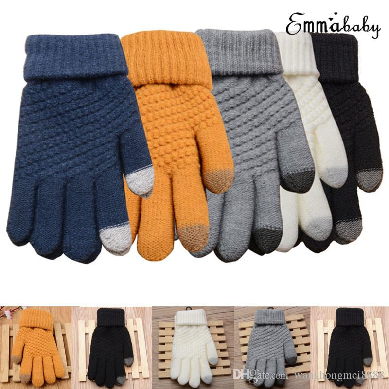 Hot Womens Mens Touch Screen Wool Winter Gloves Warm Smartphone Shining fashion Comfortable Mobile Phone iPhone