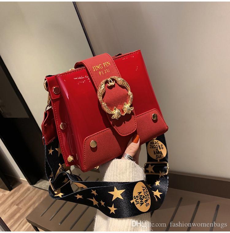 Заклепки сумки посыльного женщины кошелек плеча широкий ремень сумки крест тела ремень сумки женский Bolsa Kanuo /12