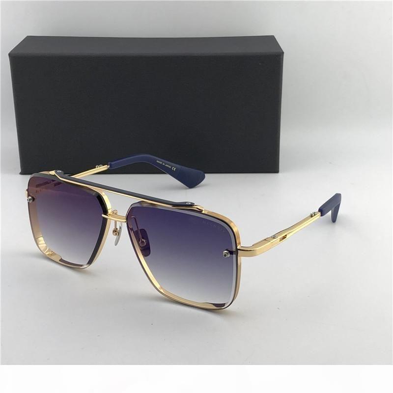 Comércio por grosso-de luxo-Matte Preto 121 Óculos De Sol Lentes de gradiente Castanho Óculos De Sol Homens Óculos De Sol novos com caixa