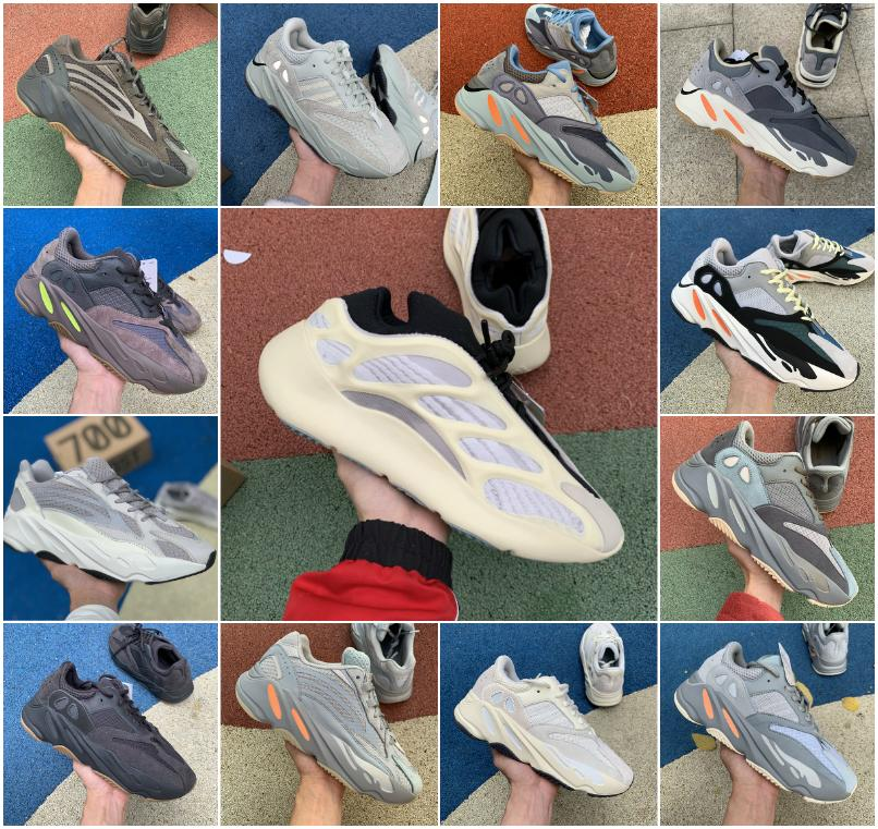 2020 Azael Alvah Glow 700 v3 reflectante Kanye West Imán Teal hospital Blue Wave Runner Runing Zapatos de lino 700 Blush Bone zapatillas de deporte