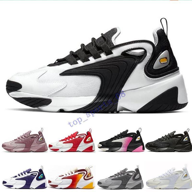 Zoom M2K 2K Tekno 2000 الثلاثي أسود أبيض رمادي غامق للرجال إمرأة الاحذية 90s نمط مصمم الرياضة أحذية رياضية