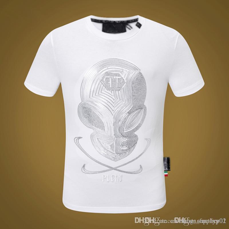 Erkek Tasarımcı T Gömlek Firmata Uomo Moda Philip GG 20ss Lüks kot Tişörtlü Yaz Homme Kafatası Tee sırt çantası ayakkabıları 10 Tops