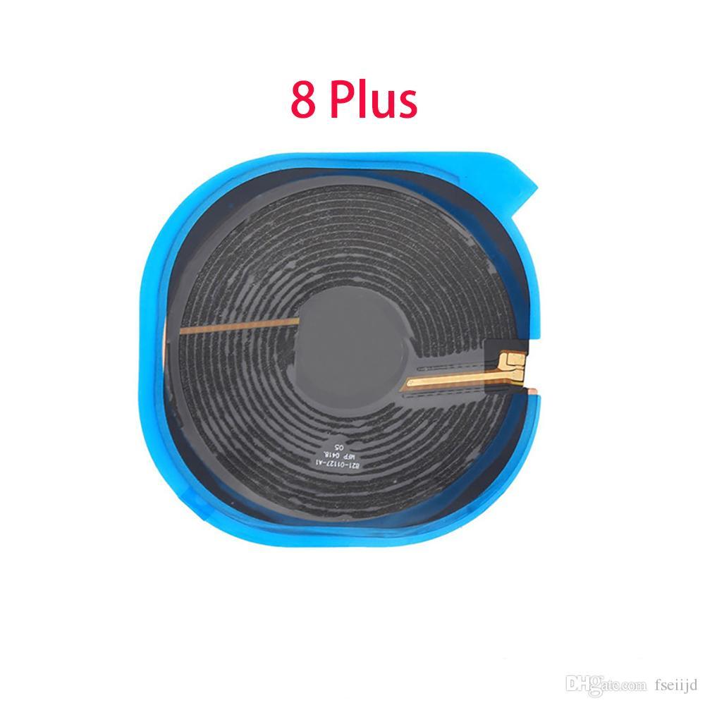 50pcs para el iPhone 8 Plus X NFC chip inalámbrico de carga de la bobina del cargador del panel Etiqueta Flex Ribbon Cable