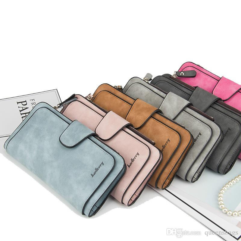 New Buckle Lady's Purse with A Triple Fold Fashionable with A Multi-card Seat Matte Frosted Two-color Fabric PU Leather Women Wallet