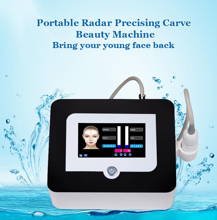 Os mais recentes potável High Intensity Focused Ultrasound V Max HIFU 2D 3D HIFU máquina para Face Lift E corpo emagrecimento frete grátis