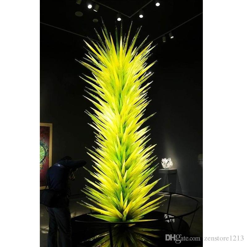 Luxury Flower Trees Glass Sculpture Hotel Foyer Murano Blown Glass Sculpture Outdoor Garden Art Decoration Standing Glass Art Floor Lamps