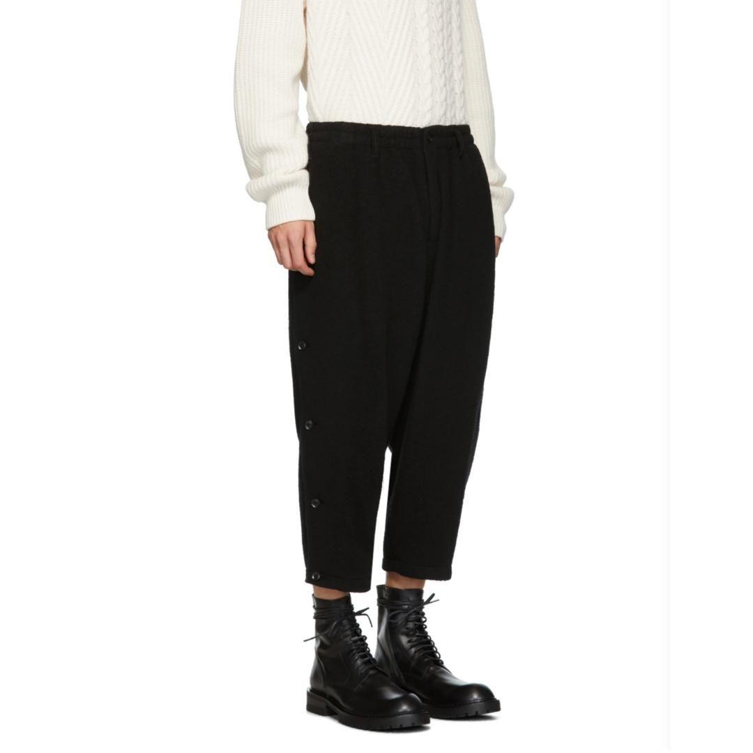 Pantalones para hombres 27-46 2021 Ropa Pelo Stylist Catwalk Estructura original Doble Botón Harem Harem Tallas grandes Disfraces