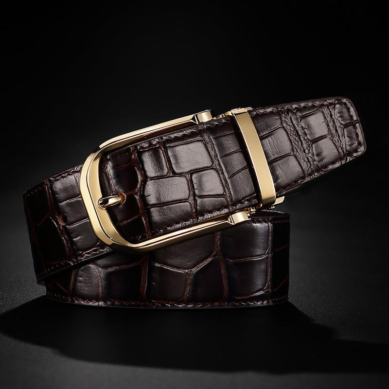 Cinturón de cuero genuino al por mayor 2018 de los hombres de alta calidad cinturones de diseño hombres cinturones masculinos de lujo para hombres moda vintage hebilla para