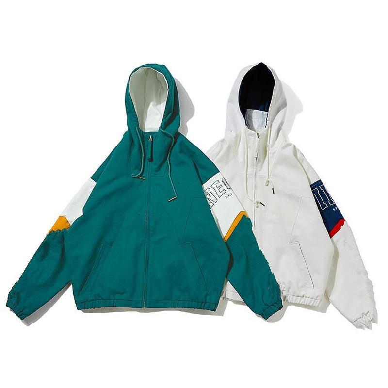 adidas Nouveautés Manteaux Hommes Femmes Vestes Windbreaker Zipper Sweats à capuche Manteau Patchwork Street Fashion Casual Outerwear printemps meilleures ventes