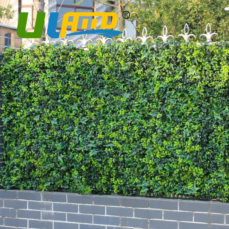"""10"""" x 10"""" artificial Hiedra Esgrima de privacidad Hierba Valla de plástico UV decorativo boj Topiary Bush Coberturas para el jardín G0602A009"""