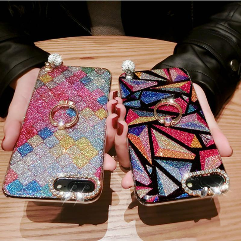 Luxe femmes Cas de téléphone IPhone XR XS MAX 8 X 7 Designer pour Iphone 11 / 11Pro / 11ProMax Couverture arrière avec Béquille strass gros