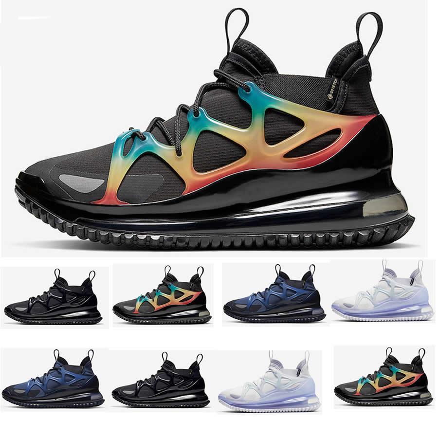 2020 Yeni Renk Horizon Koşu Ayakkabı Erkek Gece Mavisi Siyah Çoklu Gökkuşağı Lacivert Tebeşir Kış Beyaz Nefes Sporları Spor ayakkabılar 40-46