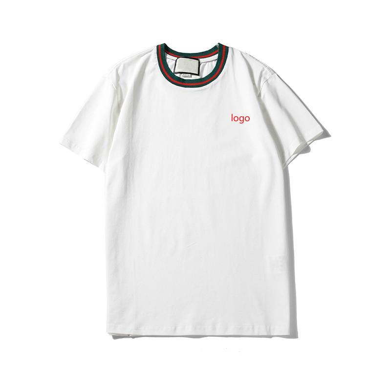 Hommes Designer T-shirts Hommes Marque Lettre Broderie Mode Hauts T Hommes Luxe solide Couleur Respirant T-shirts Hommes Femmes Couple T-1