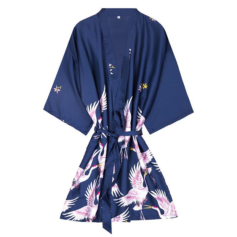 Fashion Silk Bridesmaid Bride Robe Sexy Donna Breve Raso Wedding Kimono Robes Sleepwear Camicia da notte Dress Donna Accappatoio Pigiama