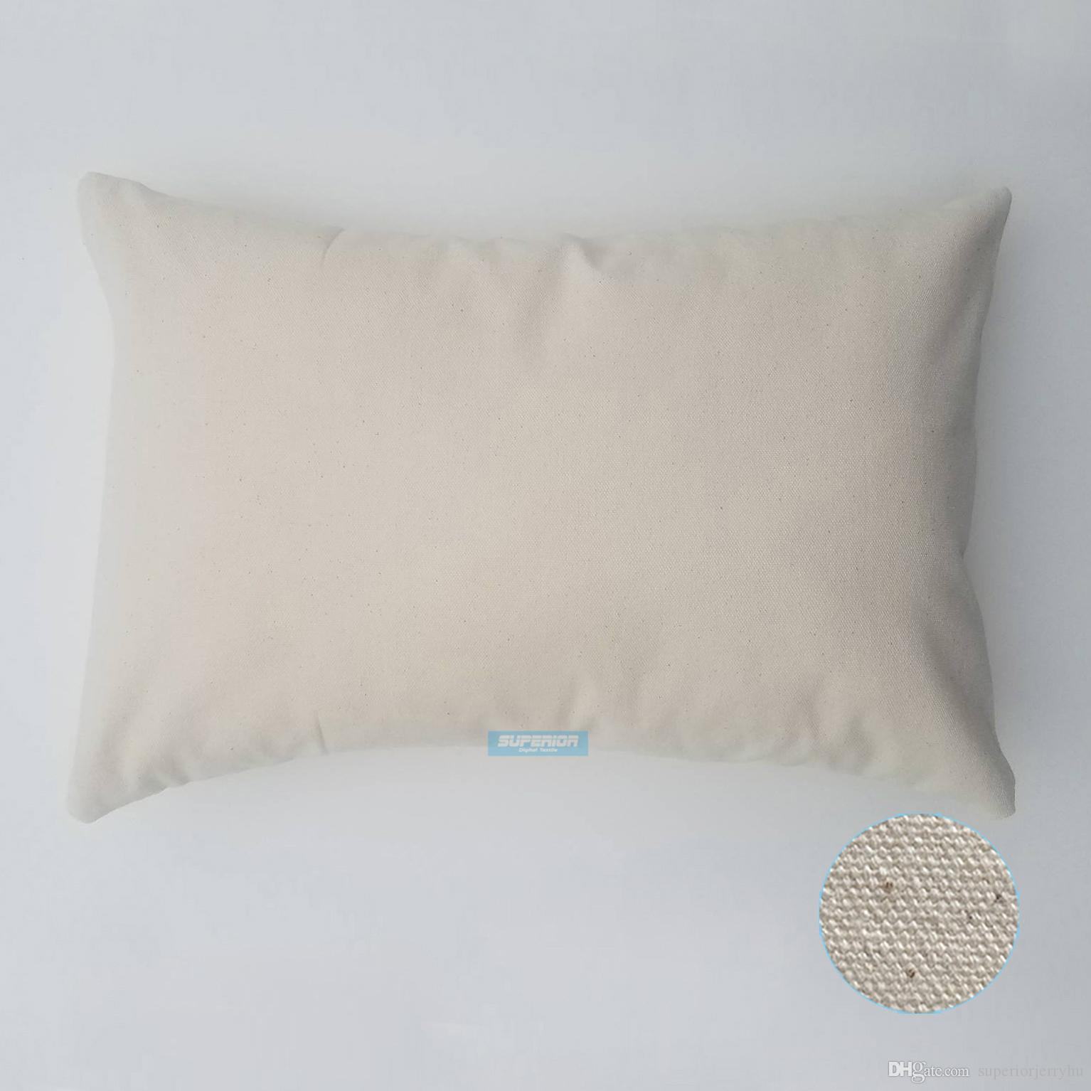 Cotton Canvas Throw Pillow Cover 18x18 Wholesale Blank 10 oz Lot of 20 Blanks