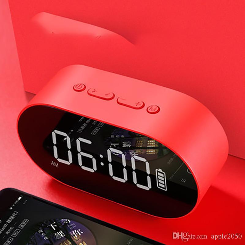 المحمولة اللاسلكية بلوتوث المتكلم العمود مضخم صوت الموسيقى مربع الصوت LED الوقت قيل غفوة المنبه للهاتف المحمول