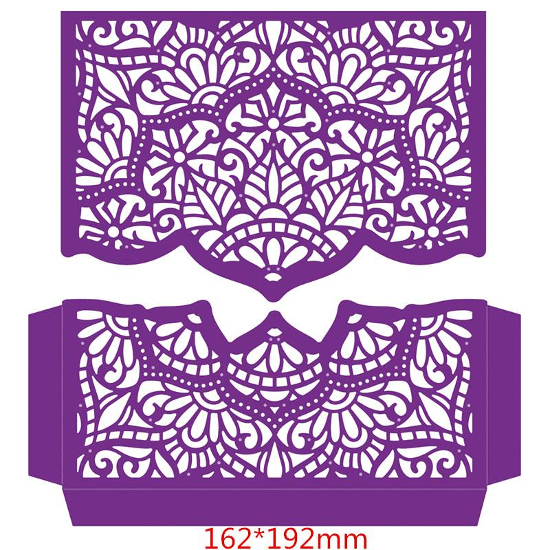 Split Lace Frame Metal Cutting Dies Stencils for DIY Scrapbooking Photo Album Decorative Embossing Invitation Card Craft Die Cut
