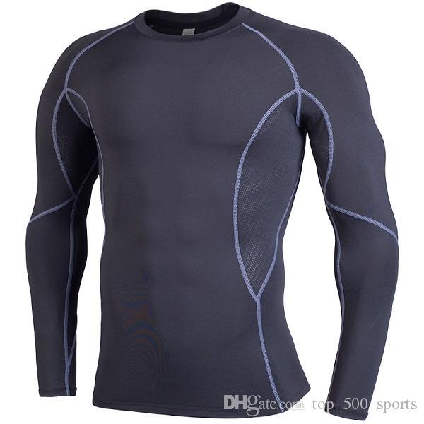 달리기 셔츠 건조한 망형 체육관 의류 스쿠프 넥 긴 소매 Yldiyo 속옷 바디 빌딩 Suiit Polyy